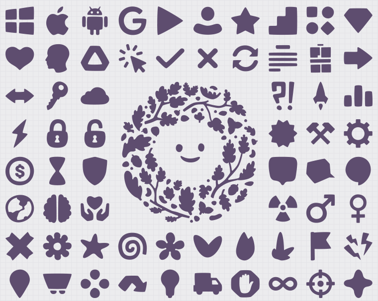 Small frequently shapes - used vectors and transparetn png